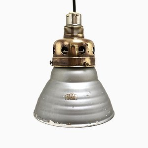 Vintage Mercury Glass Pendant Lamp by Adolf Meyer for Zeiss Ikon