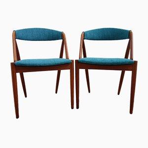 Sedie nr. 31 di Kai Kristiansen per Schou Andersen, anni '60, set di 2