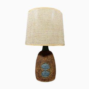 Dänische Tischlampe aus Keramik, 1950er