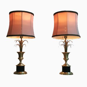 Lámparas en forma de palmera de Maison Jansen, años 60. Juego de 2