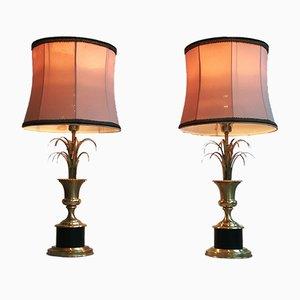 Lampen in Palmen-Optik von Maison Jansen, 1960er, 2er Set