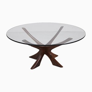 JAX Rosewood Coffee Table by Illum Wikkelso for Niels Eilersen, 1960s