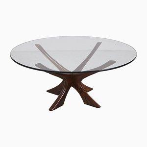 Tavolino da caffè JAX in palissandro di Illum Wikkelso per Niels Eilersen, anni '60