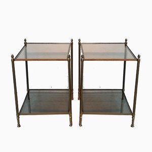 Gilded Side Tables from Maison Jansen, 1950s, Set of 2