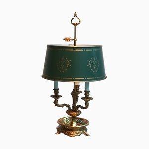 Lámpara de mesa francesa de cobre y metal, años 50