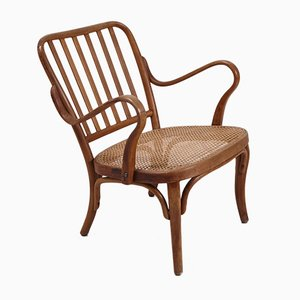 Wicker Easy Chair by Joseph Frank for Thonet, 1950s