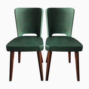 Grüne Vintage Stühle aus Skai, 2er Set