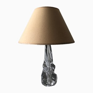 Mid-Century French Crystal Table Lamp