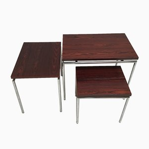 Dutch Palissander Nesting Tables, 1960s