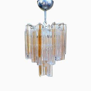 Lámpara de araña de Carlo Scarpa para Venini, años 50