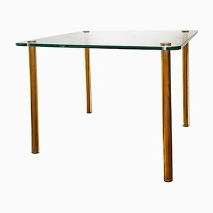 Mid-Century Italian Brass & Glass Side Table