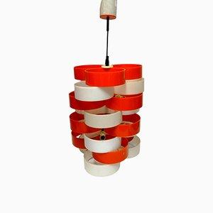 Plexiglas & Plastic Ceiling Lamp, 1970s