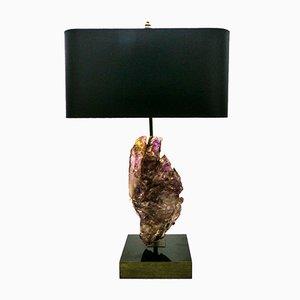 Lámpara de mesa vintage de amatista, años 70