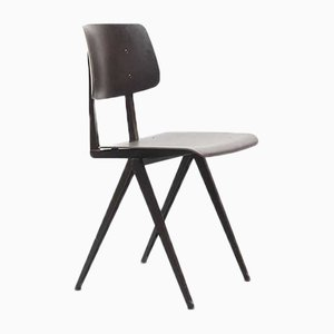 S16 Stuhl aus Ebenholz mit schwarzem Gestell von Galvanitas, 1960er