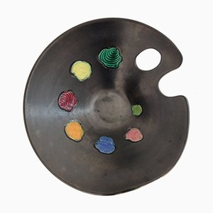 Large Painter's Palette Ceramic Dish from Elchinger, 1960s
