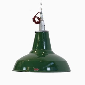 English Factory Pendant Lamp from Thorlux, 1950s