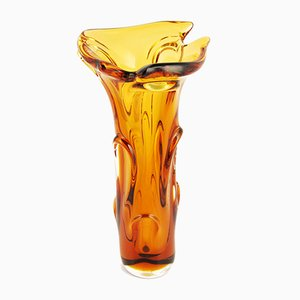 Large Glass Vase by Jan Beranek for Skrdlovice Hut, 1960s