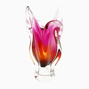 Glass Vase by Josef Hospodka for Chribska Sklarna, 1960s
