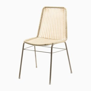 Industrial Metal Chair with Plastic Weaving, 1970s