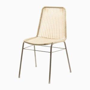 Industrieller Metallstuhl mit Sitz aus Kunststoffgeflecht, 1970er