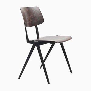 Ebonisierter S16 Stuhl mit schwarzem Gestell von Galvanitas, 1960er