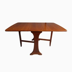 Mid-Century Teak Drop-Leaf Dining Table by Victor Wilkins for G-Plan