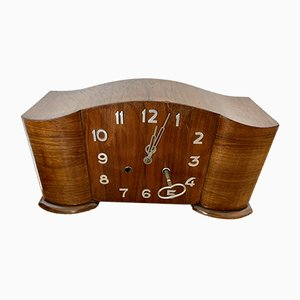 Art Deco Walnut Clock, 1920s