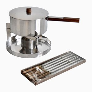 Small Vintage Fondue Set by Peter Holmblad for Stelton