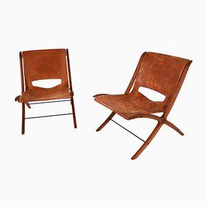 Mid-Century X-Chairs von Peter Hvidt & Orla Mølgaard-Nielsen für Fritz Hansen, 2er Set