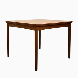 Mid-Century Extendable Teak Dining Table by Poul Hundevad