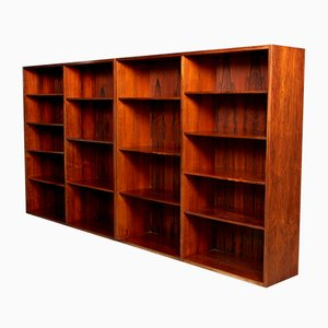 Rosewood Bookshelves from Omann Jun, 1970s, Set of 2