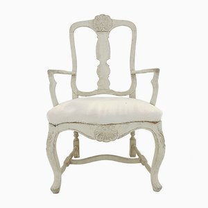 Schwedischer Sessel im Rokoko-Stil, 19. Jh.