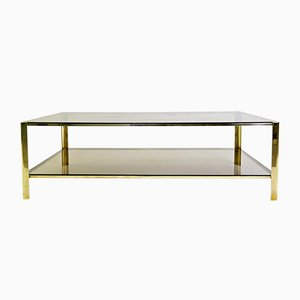 Solid Bronze Coffee Table by Jacques Quinet for Maison Malabert, 1960s