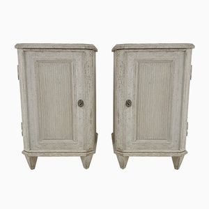 Gustavian Style Bedside Cabinets, 1880s, Set of 2