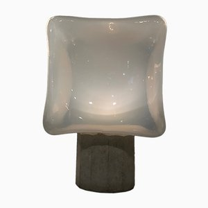 Würfelförmige Tischlampe von Leucos, 1970er