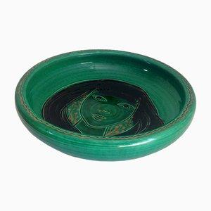 Plato de cerámica de Accolay, años 50