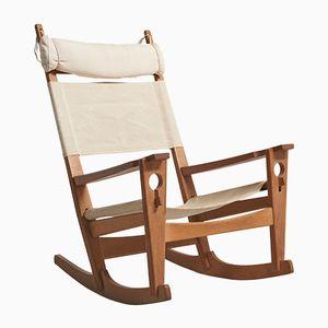 Rocking Chair Keyhole par Hans J. Wegner pour Getama, 1960s