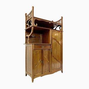 Art Nouveau Belgian Mahogany Cabinet, 1930s
