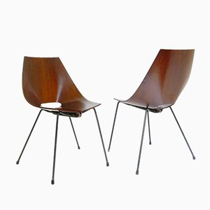 Italian Chairs by Carlo Ratti, 1960s, Set of 2