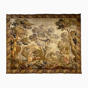 Late 18th-Century French Verdure Garden Tapestry