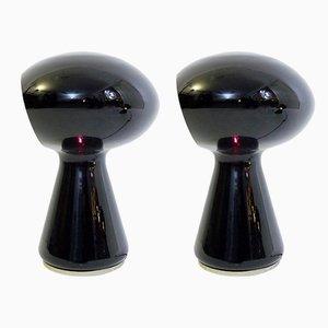 Lámparas de mesa L423 de Michael Red, años 70. Juego de 2