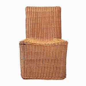 Vintage Wicker Side Chair