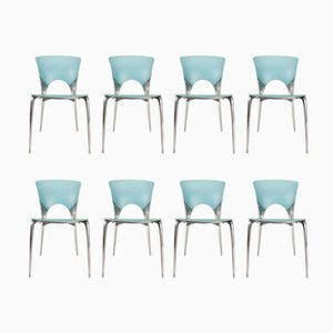Vintage Silla Stacking Chairs by Josep Llusca for Driade, Set of 8