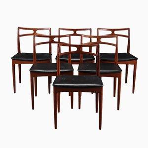 Chaises de Salle à Manger Modèle 94 en Teck par Johannes Andersen pour Christian Linneberg, 1960s, Set de 6