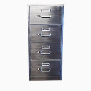 Vintage Industrial Metal 4-Drawer Filing Cabinet