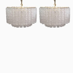 Vintage Chandeliers from Venini, 1960s, Set of 2