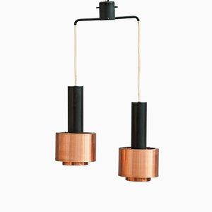 Lámpara colgante doble vintage de Stilnovo, años 60