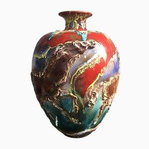 Große Keramikvase von Ghersi Albisola, 1976