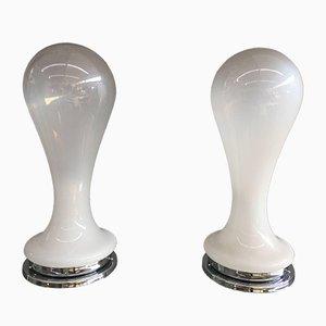 Lámparas de mesa de Angelo Mangiarotti, años 70. Juego de 2