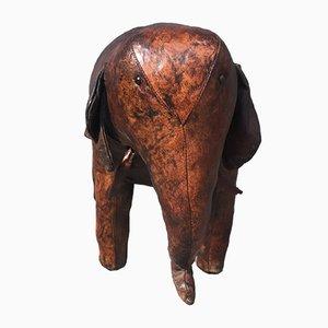 Reposapiés en forma de elefante de cuero de Dimitri Omersa, años 60